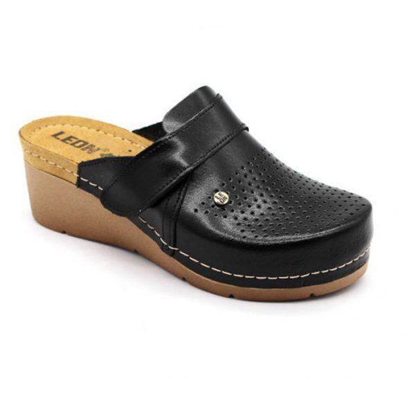 Leon Comfort női papucs-1001 Fekete