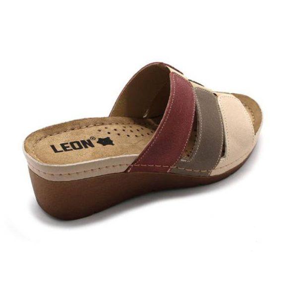 Leon Comfort női papucs-1009 Bézs/Rózsa
