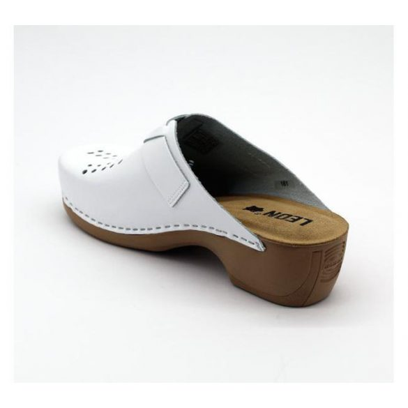 Leon Comfort női papucs-161 Fehér új