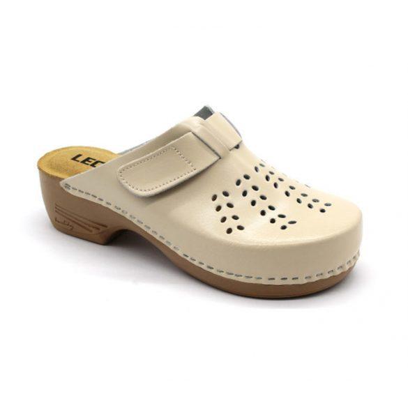 Leon Comfort női papucs-161 bézs uj