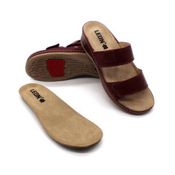 Leon Comfort női papucs-2020 bordó