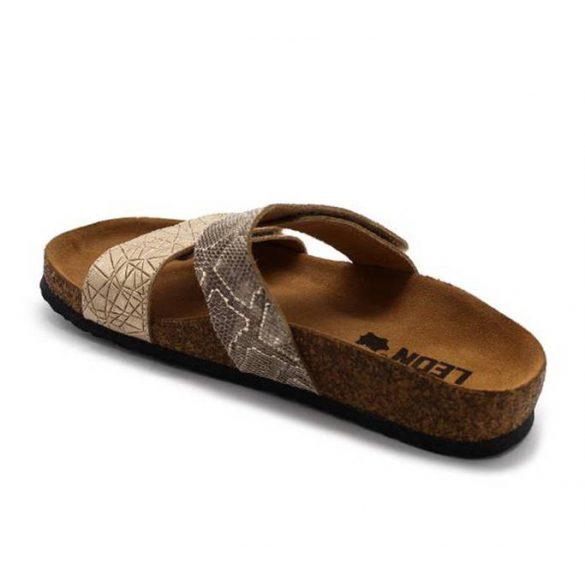 Leon Comfort női papucs-4000 Arany-Kigyo