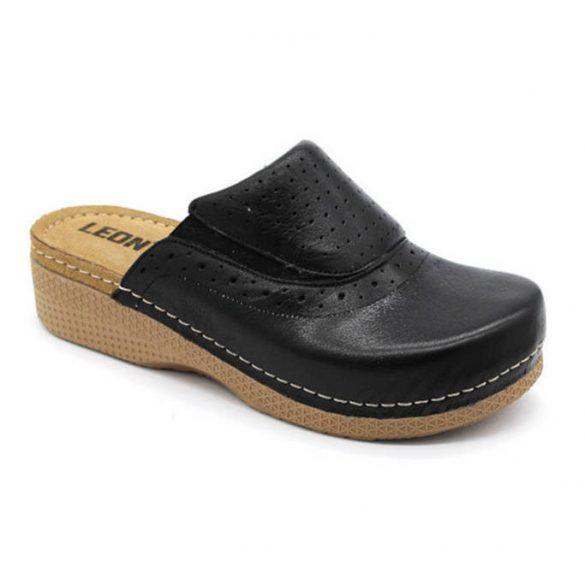 Leon Comfort női papucs-400 Fekete