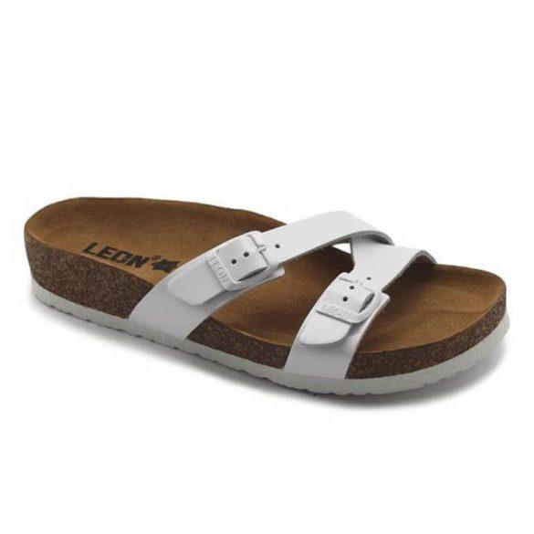 Leon Comfort női papucs-4030 Fehér