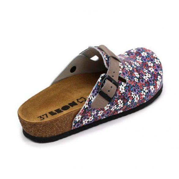 Leon Comfort női papucs-4250 Kék-Virág