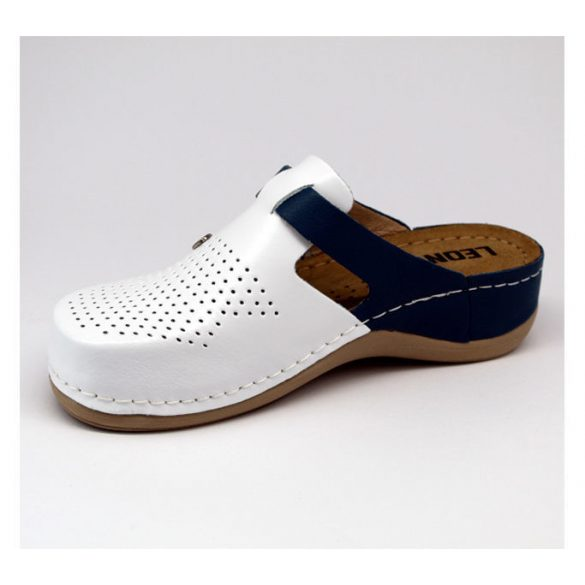 Leon Comfort női papucs-901 Fehér/Kék