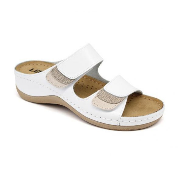 Leon Comfort női papucs-904 Fehér