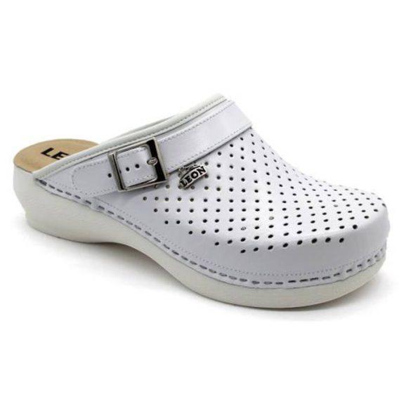 Leon Comfort női papucs-PU 101 Fehér
