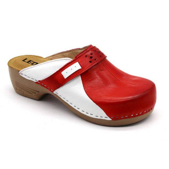 Leon Comfort női papucs-PU 154 Piros