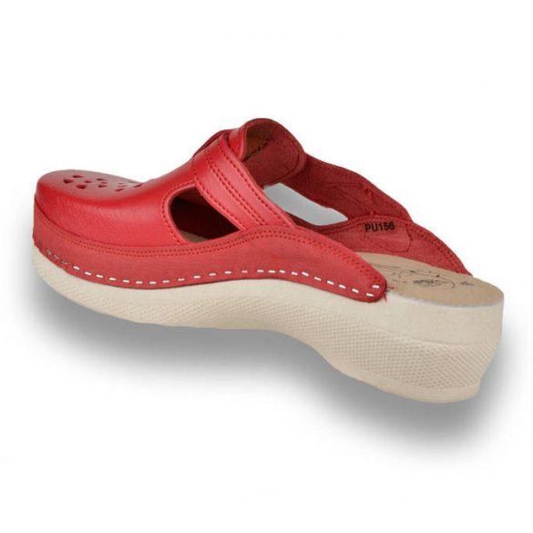 Leon Comfort női papucs-Pu 156 Piros