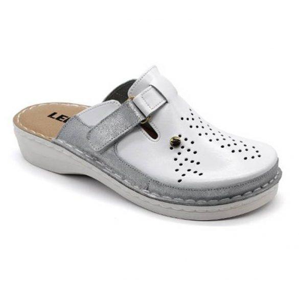 Leon Comfort női papucs-V261 Fehér